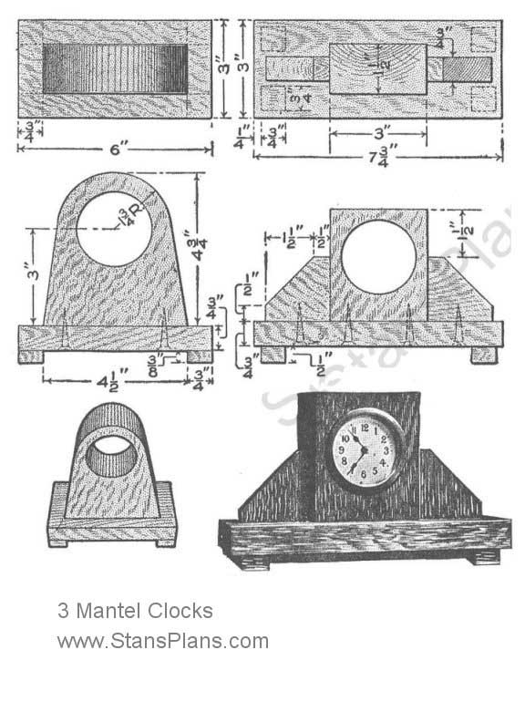 Woodworking Plans Mantel Clocks Pdf Woodworking
