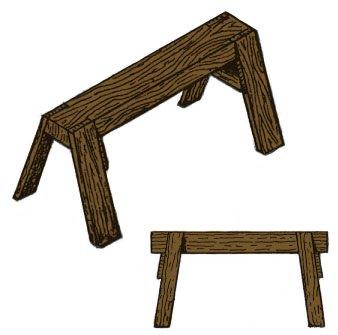 wood sawhorses