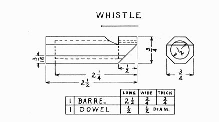 Plans For A Wooden Whistle At Stansplans Com
