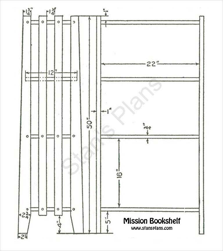 woodworking plans bookshelf free
