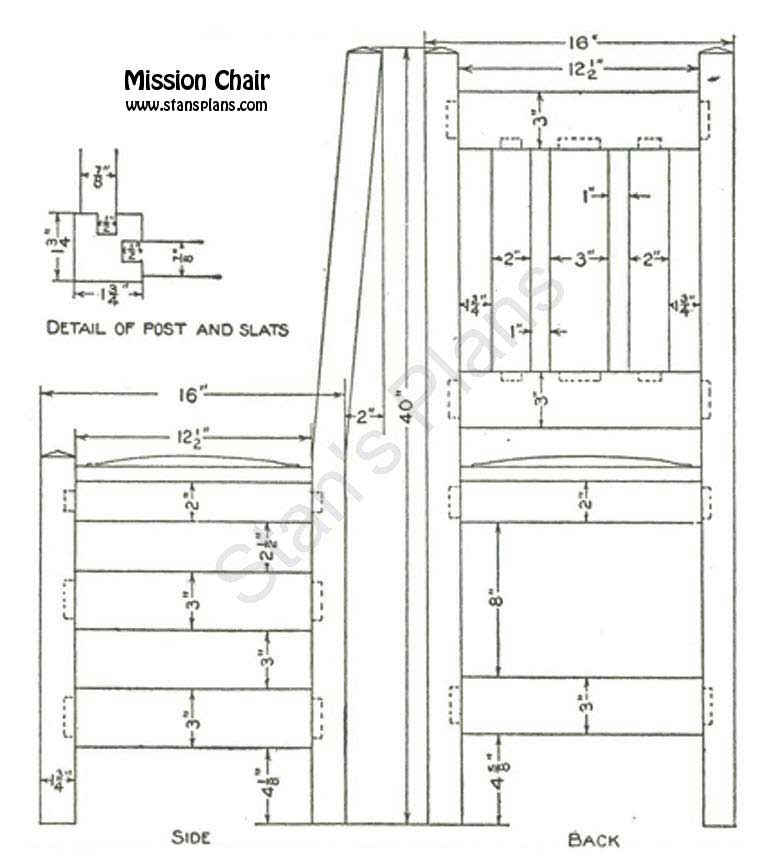 mission chair plans