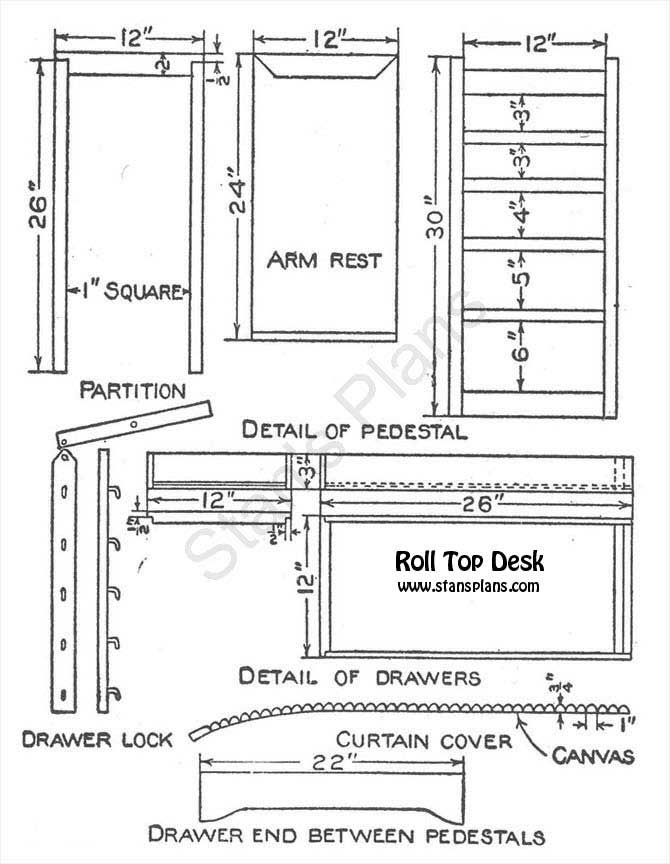 roll top desk construction