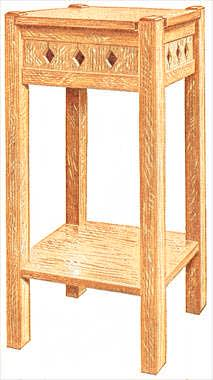 Click here for detailed small end table plans.