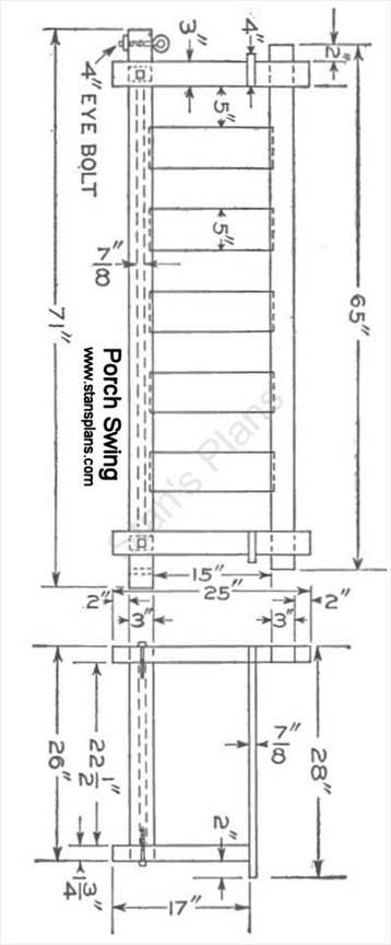 Printable Plans For A Porch Swing