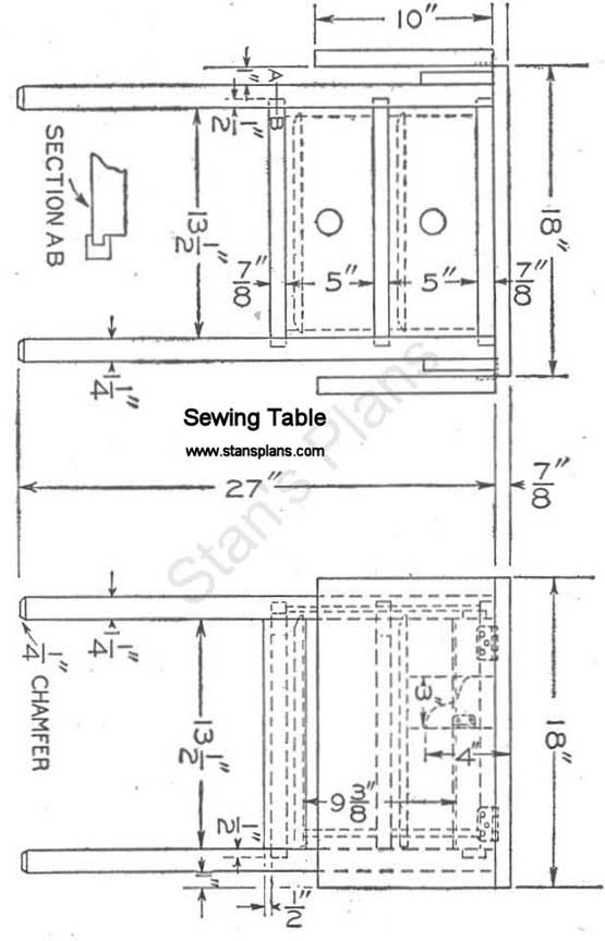 pdf plans drop leaf sewing table plans download diy easy