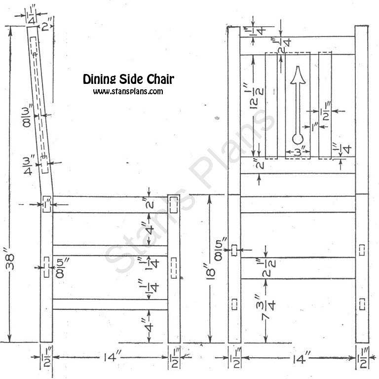 Dining Chair Plans - All Free Plans at Stans Plans
