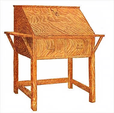 mission writing desk plans