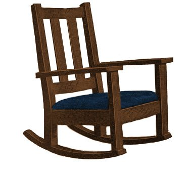 Free mission style rocking chair plans furnitureplans for Rocking chair design plans