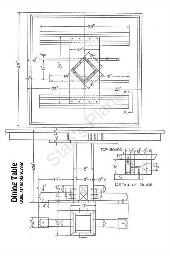 Printable plans for a dining table for Dining table plans woodworking free