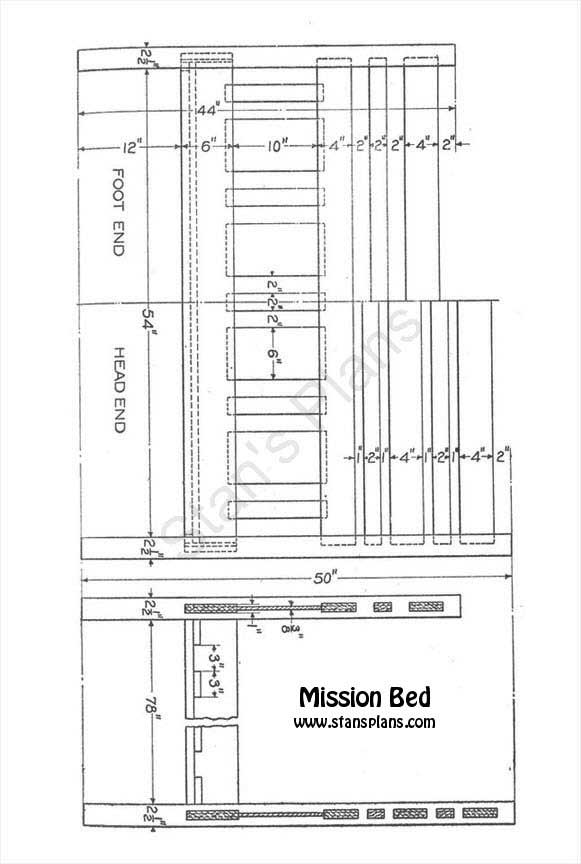 Mission bed plans all free plans at stans plans for Mission bed plans