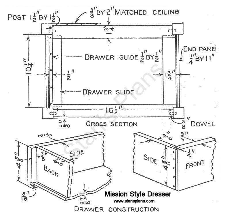 Mission Dresser Plans Free