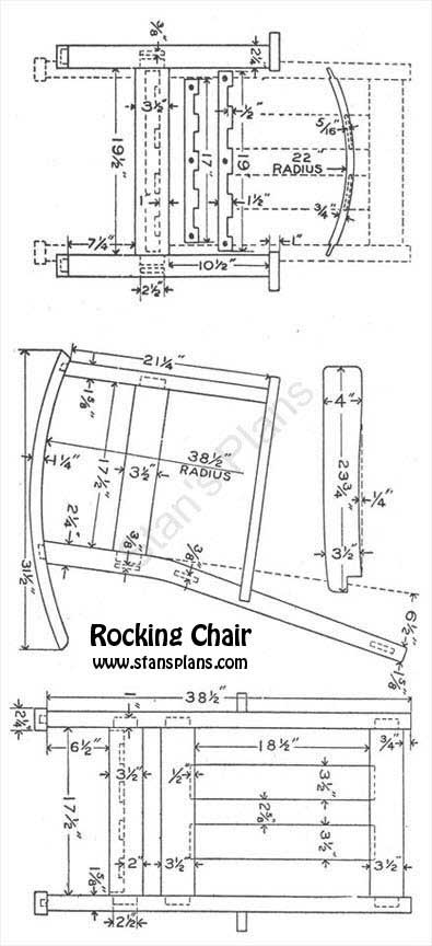 Free dollhouse furniture blueprints child 39 s adirondack for Rocking chair design plans