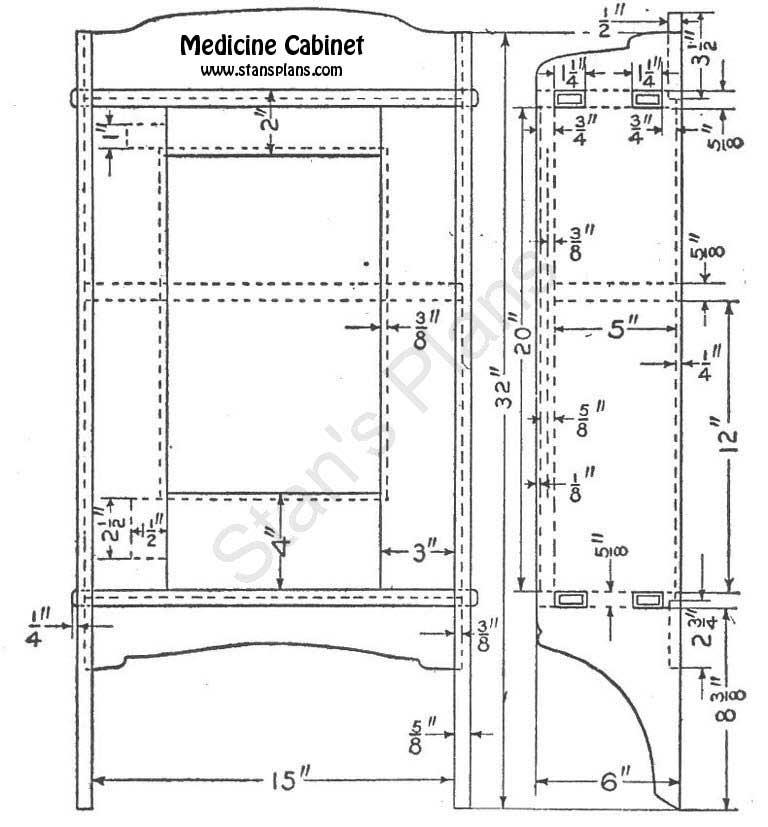 medicine cabinet plans wood